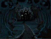 Halloween-Wald Lizenzfreies Stockfoto
