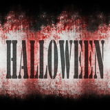 Halloween wall grungy background Royalty Free Stock Photos