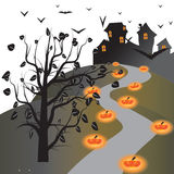 Halloween wallpaper. Of frame in background Stock Photography