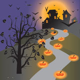 Halloween wallpaper. Of frame in background Royalty Free Stock Image