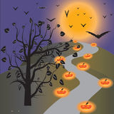 Halloween wallpaper. Of frame in background Royalty Free Stock Photo