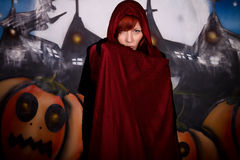 halloween wampira kobieta Fotografia Royalty Free