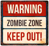Halloween warning sign. Beware of zombies. Vector illustration. Royalty Free Stock Photography