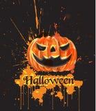 Halloween watercolor pumpkin Vector. Dark spooky backgrounds. Halloween watercolor pumpkin Vector. Dark spooky background vector illustration
