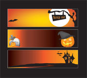 Halloween web banners Stock Photography