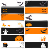 Halloween web banners. Vector eps-10. Stock Photo
