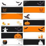 Halloween web banners. Vector eps-10. Stock Photo
