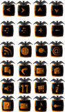 Halloween web buttons set Royalty Free Stock Photos