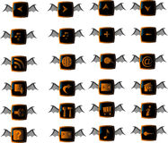 Halloween web buttons set Royalty Free Stock Photo