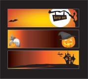 Halloween-Web-Fahnen stock abbildung