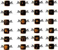 Halloween-Web-Tasten eingestellt Lizenzfreies Stockfoto