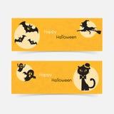 Halloween website  header or banner Stock Images
