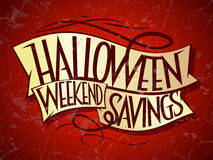 Halloween weekend savings. Royalty Free Stock Photo