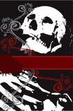 Halloween-weißer skeleton Strudel Stockbild