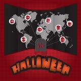 Halloween-Weltkarte Lizenzfreie Stockfotografie