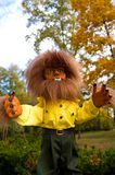 Halloween Werewolf. Halloween doll dressed up as a very hairy werewolf with fangs royalty free stock image