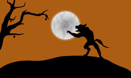 Halloween werewolf Royalty Free Stock Photography