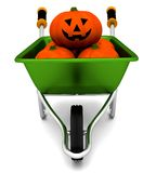 Halloween wheelbarrow Stock Photos