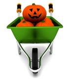 Halloween wheelbarrow Stock Photos