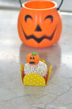Halloween white chocolate ball cake Royalty Free Stock Image