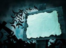 Halloween-wijzer blauwe kleur Stock Foto