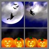 Halloween Window. Illustration of a Halloween themed window scene Stock Photos