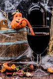 Halloween. Wine for Halloween party soft drink Stock Image