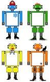 Halloween Winter Fun Toy Robots Stock Photo