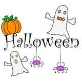 halloween wishes stock illustrationer