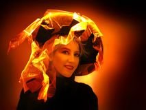 Halloween Witch. A portrait of a woman in the costume Halloween Witch Royalty Free Stock Photography