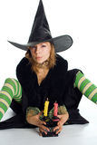 Halloween witch. On white background Stock Photography