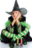 Halloween witch. On white background Royalty Free Stock Photo