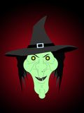 Halloween witch. Simply ugly halloween witch for coming holiday in october Royalty Free Stock Photos