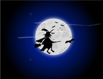 Halloween witch background. Illustration Stock Images
