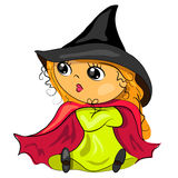 Halloween witch in black hat image stock illustration