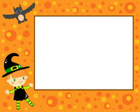 Halloween witch card Royalty Free Stock Photos