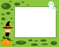 Halloween witch card Stock Photos
