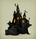 Halloween witch castle Stock Photo