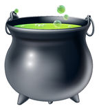 Halloween witch cauldron Stock Photos
