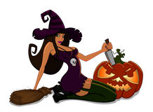 Halloween witch character Royalty Free Stock Images