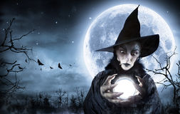 Halloween Witch Clairvoyant Royalty Free Stock Photos