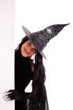 Halloween witch commercial message Stock Images