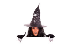 Halloween witch commercial message Royalty Free Stock Photos