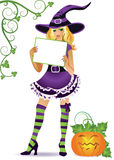 Halloween witch , commercial message Stock Image