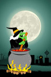 Halloween witch cooking Royalty Free Stock Images