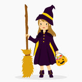 Halloween Witch Costume Vector Illustration vector illustration