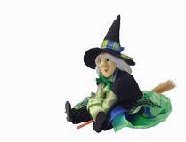 Halloween witch doll Royalty Free Stock Photography