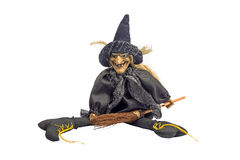 Halloween witch. Witch doll for halloween on a white background Royalty Free Stock Photos