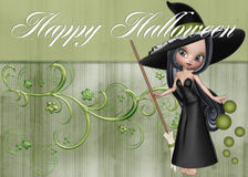 Halloween Witch Floral Background Royalty Free Stock Image