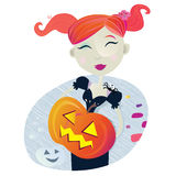 Halloween witch girl Stock Photo